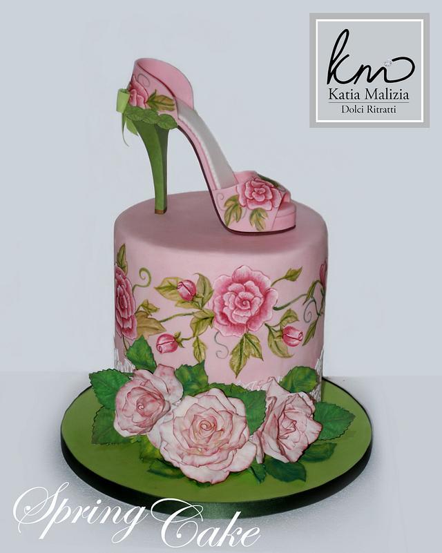 Spring Shoe Cake