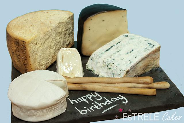Excellent Cheese Birthday Cake D Cake By Estrele Cakes Cakesdecor Funny Birthday Cards Online Alyptdamsfinfo