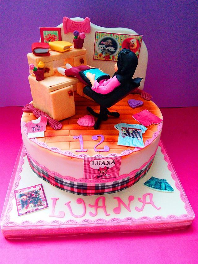 Admirable Teen Birthday Cake By Comandatort Cakesdecor Birthday Cards Printable Trancafe Filternl