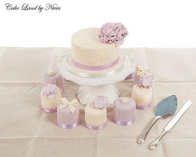 Lilac henna inspired wedding cake