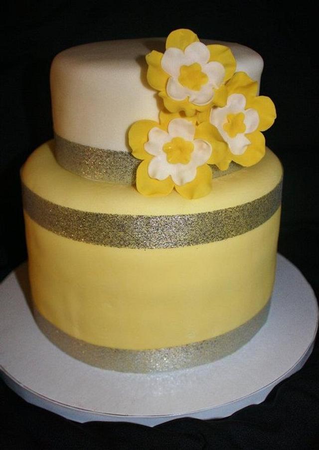 Modern Anniversary Cake