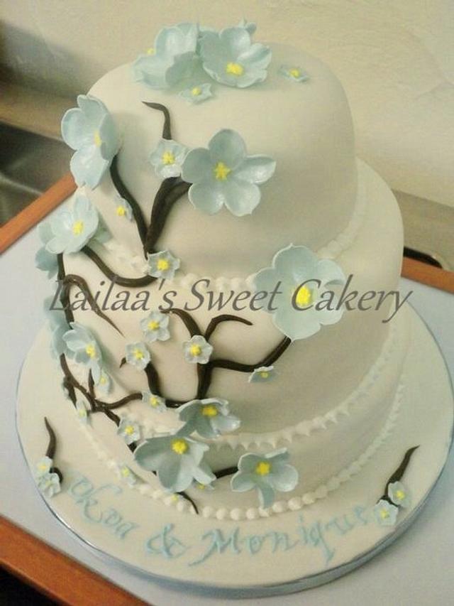 Cherry Blossom Wedding Cake!