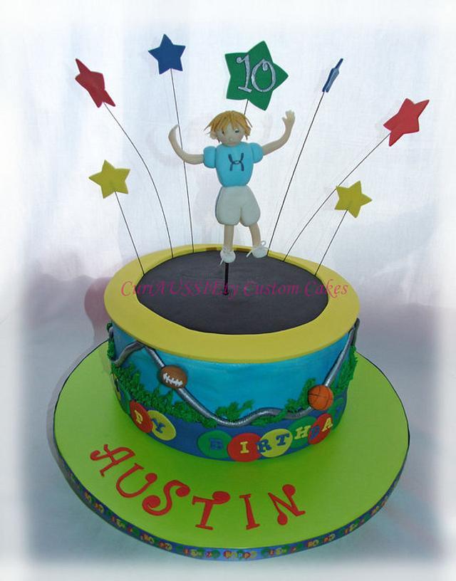 Trampoline cake