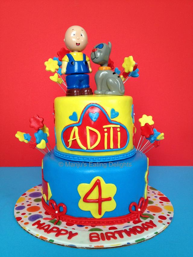 Terrific Caillou Themed Cake Cake By Manju Nair Cakesdecor Funny Birthday Cards Online Elaedamsfinfo