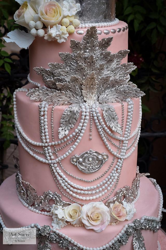 Baroque meets Bohemian Chic Wedding Cake