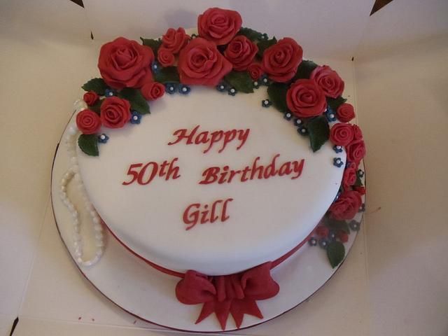 Best of British 50th Birthday Cake