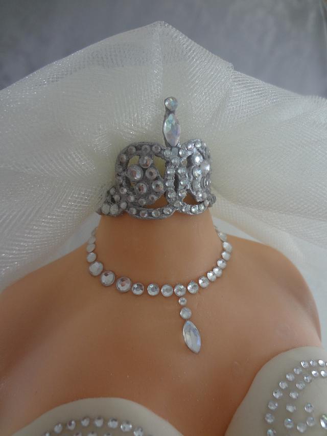 3D Wedding Dress Cake