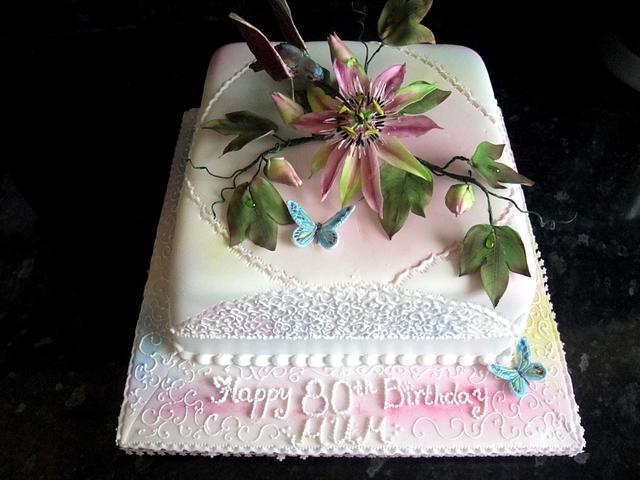 Terrific Exotic Sunrise Birthday Cake Cake By Zlatina Lewis Cake Cakesdecor Funny Birthday Cards Online Overcheapnameinfo