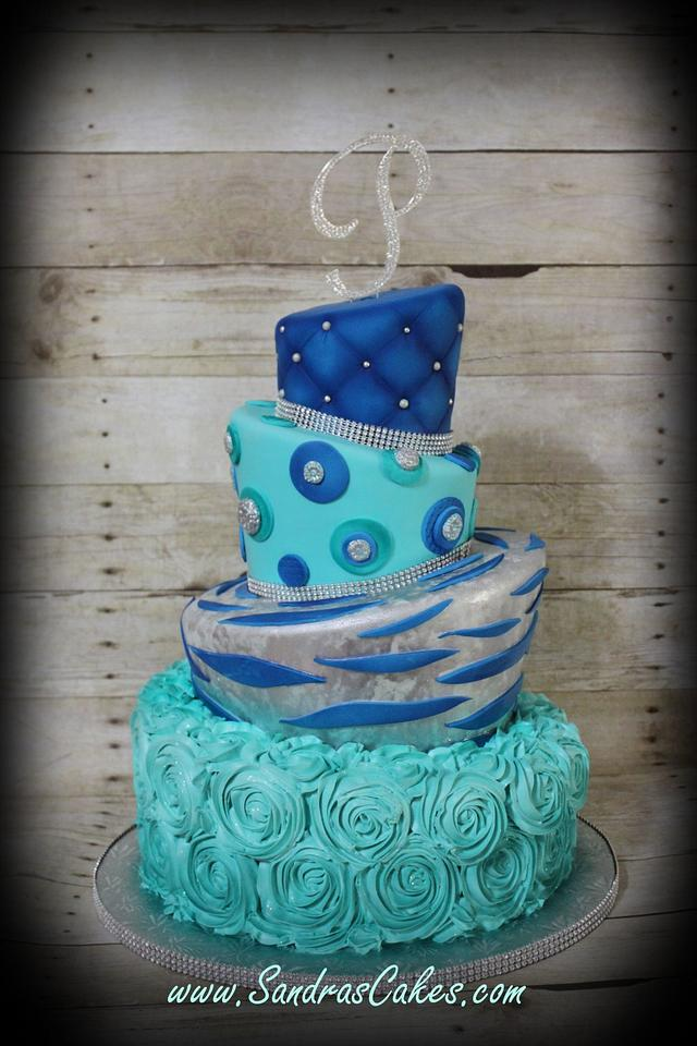 Magnificent Modern Birthday Cake Cake By Sandrascakes Cakesdecor Funny Birthday Cards Online Alyptdamsfinfo