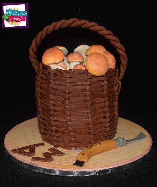 """Cake """"Basket of boletus"""""""