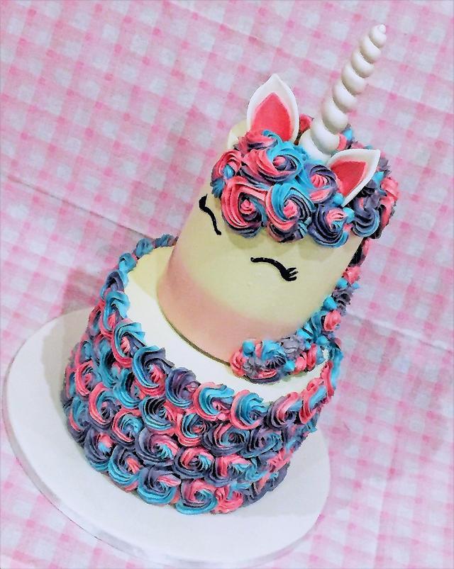 Unicorn surprise inside cake