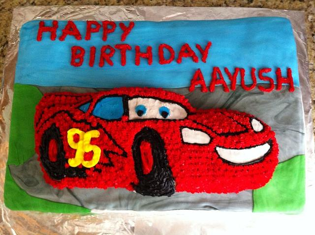*Mcqueen Car Cake*