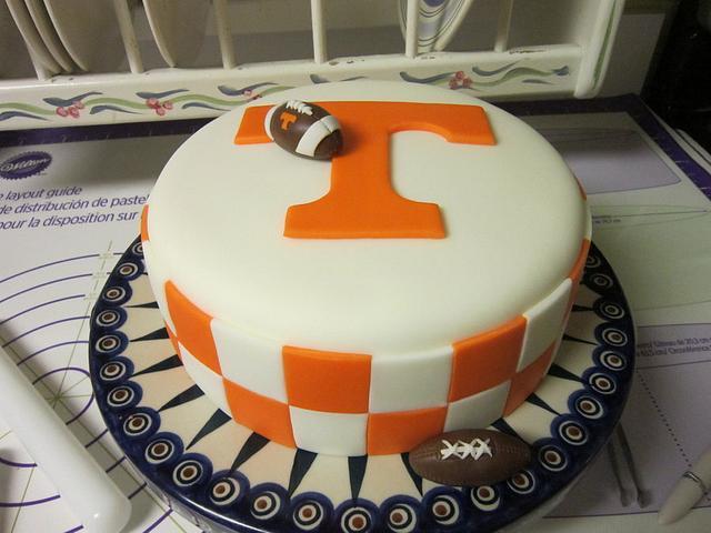 Tennessee Football Cake