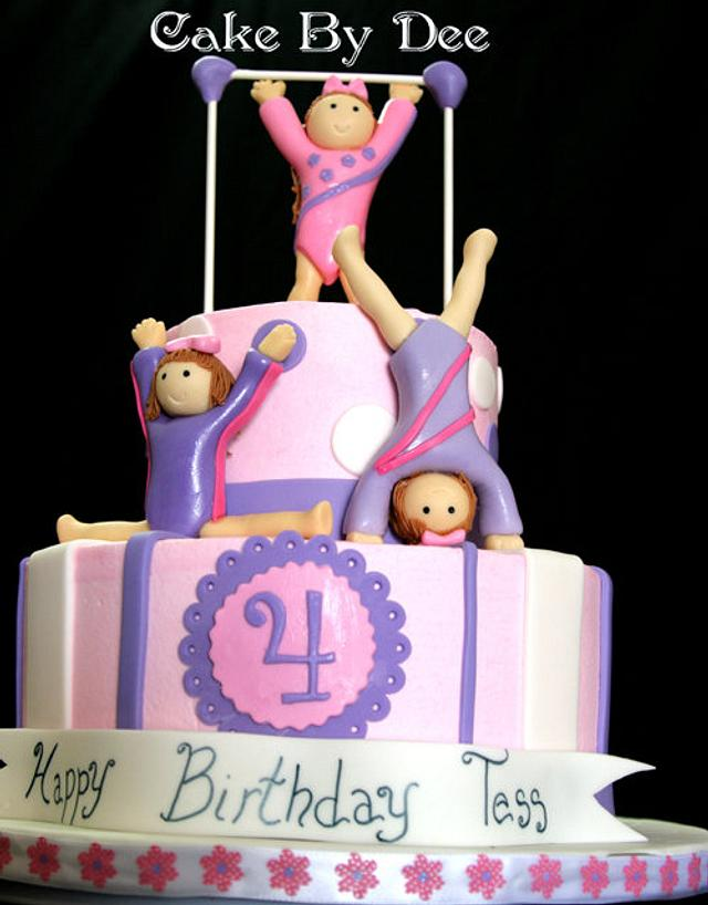 Enjoyable Gymnast Birthday Cake Cake By Dee Hernandez Cakesdecor Birthday Cards Printable Trancafe Filternl