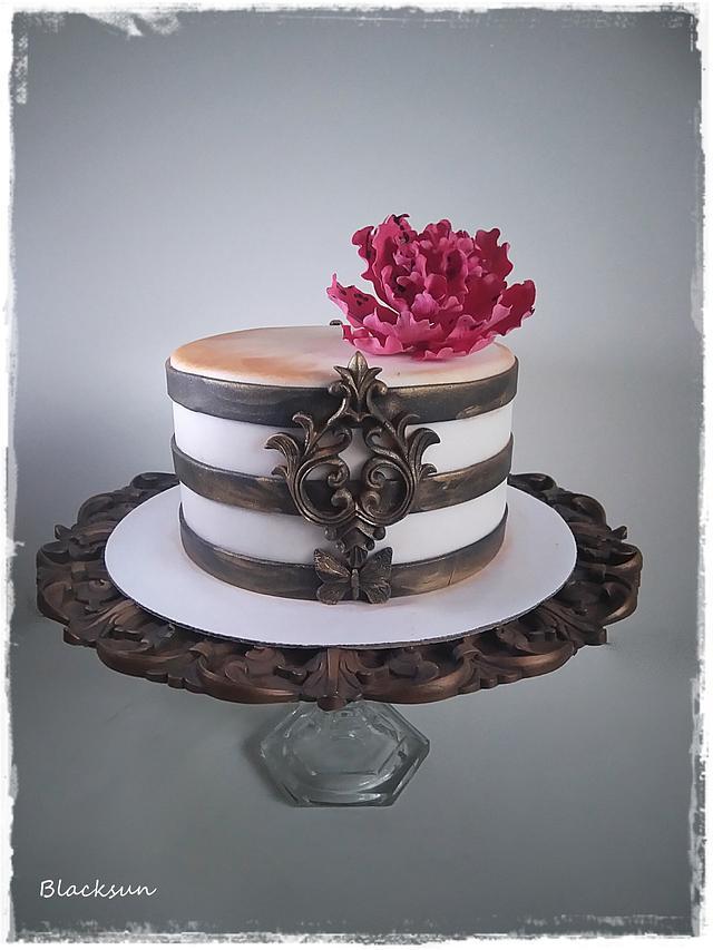 Admirable Simple Birthday Cake Cake By Blacksun Cakesdecor Funny Birthday Cards Online Elaedamsfinfo