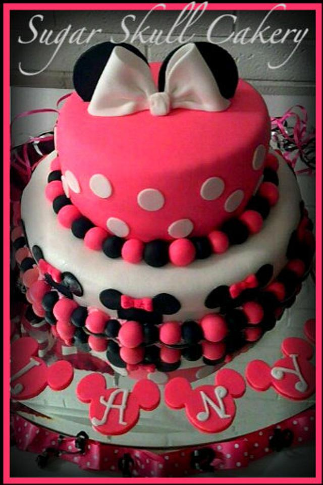 Minnie Mouse Cake for Alanys...