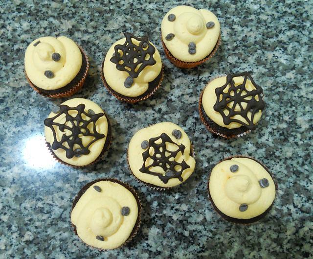cupcake chocolate and orange