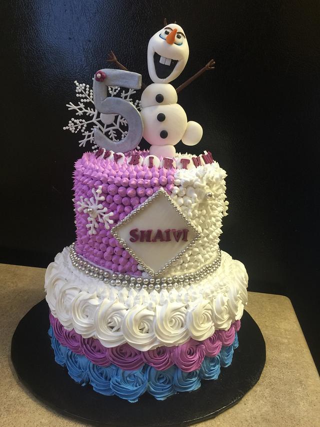 """""""Frozen themed cake"""""""