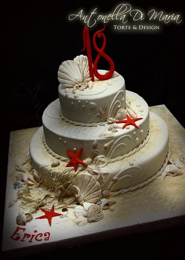 Shells on the Beach CAke