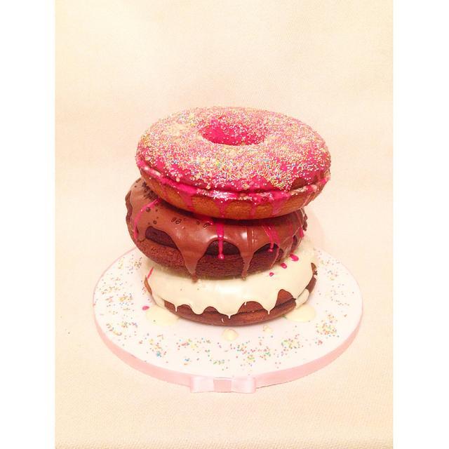 Giant stacked donut cake!