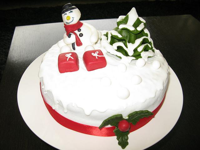 Snowman's cake