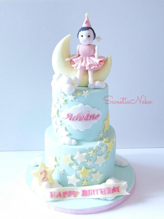 Excellent Twinkle Twinkle Little Star Themed Birthday Cake Cake Cakesdecor Personalised Birthday Cards Veneteletsinfo