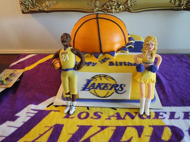 LA Lakers Basketball Cake