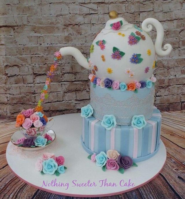 Kitchen tea bridal shower cake