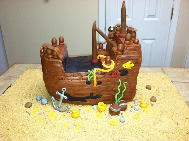 Sunken Ship Cake