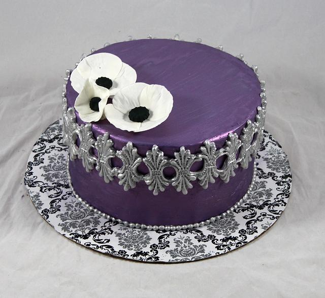 Swell Purple And Silver Cake Cake By Soods Cakesdecor Funny Birthday Cards Online Ioscodamsfinfo