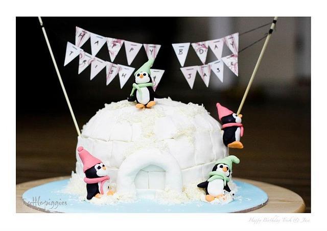 my penguin bday cake