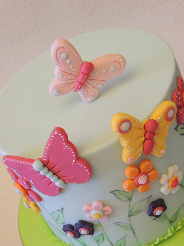 Simple Flowers & Butterflies