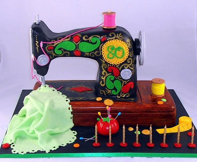 Mum's Sewing Machine Cake