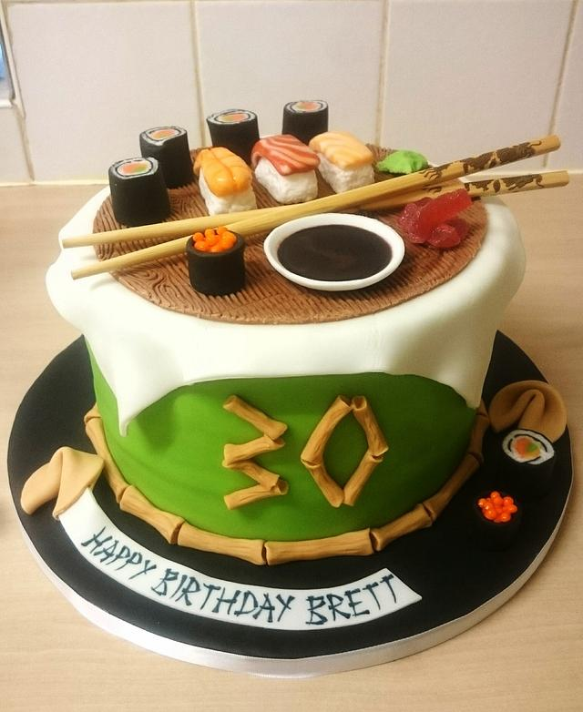 Fine Sushi Cake By Sugarmagiccakes Christine Cakesdecor Personalised Birthday Cards Veneteletsinfo