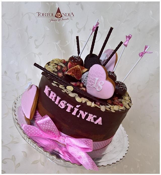 Ganache & chocolate cake