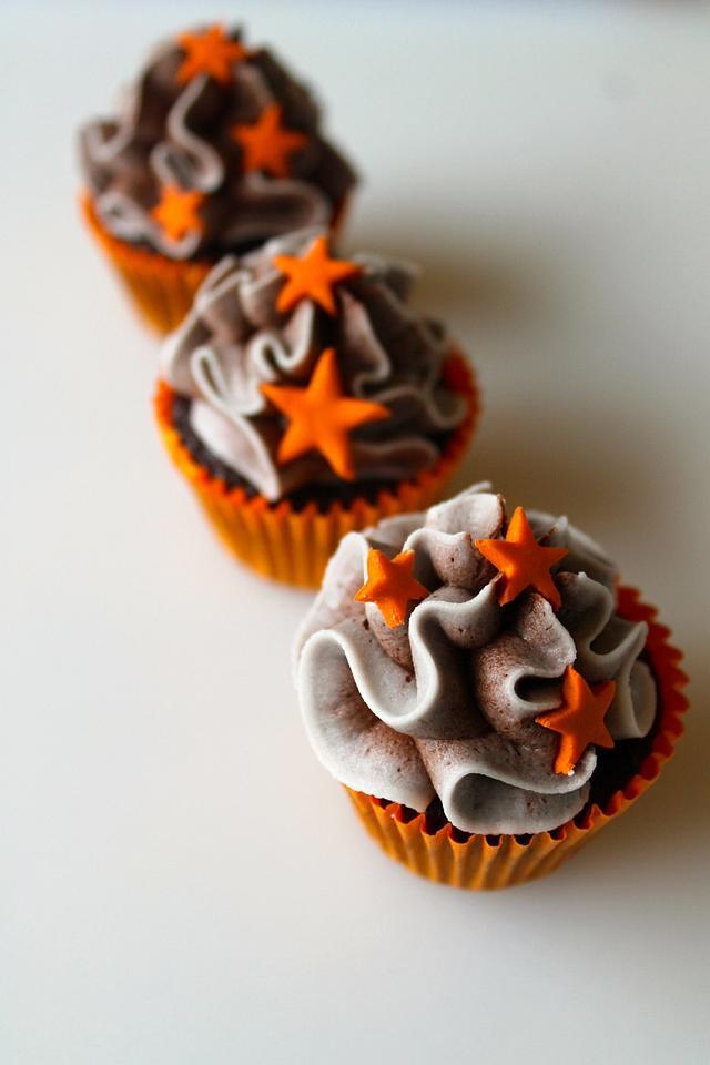 orange and choc cupcakes