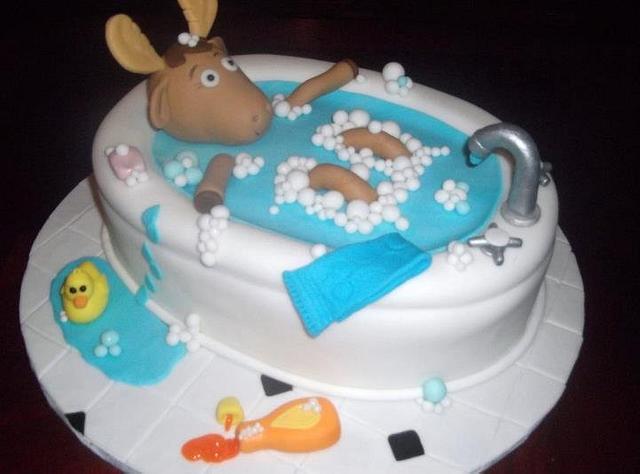 Moose in a tub