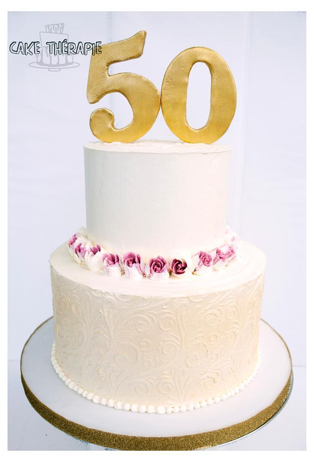 Golden Jubilee 50th birthday cake.