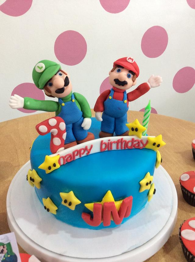 Astonishing Mario Brothers Birthday Cake Cake By Pink Plate Meals Cakesdecor Funny Birthday Cards Online Alyptdamsfinfo