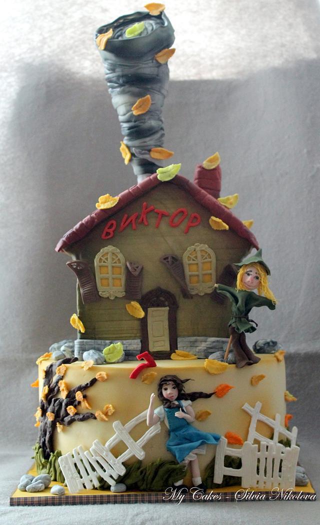 The Wizard of Oz Tornado Cake