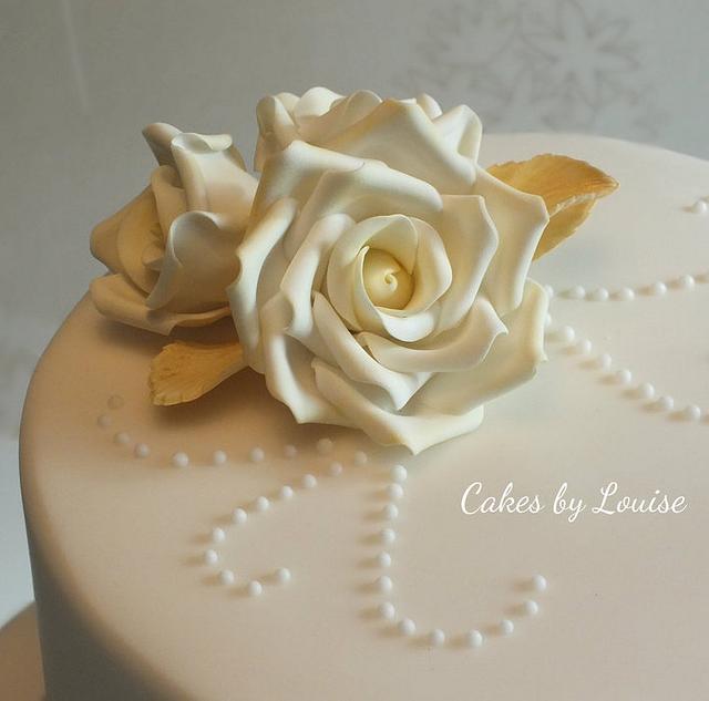 50th Golden Anniversary Cake