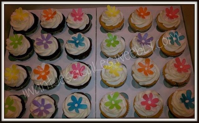 Sweet 16 button flowers