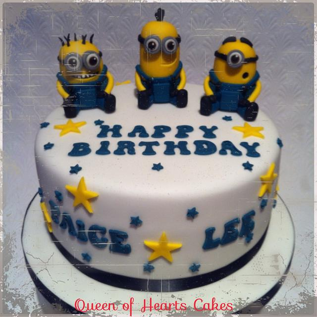Admirable Minions Birthday Cake Cake By Queen Of Hearts Cakes Cakesdecor Funny Birthday Cards Online Barepcheapnameinfo