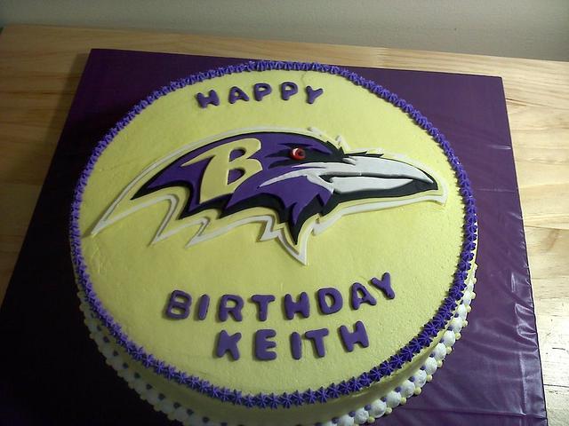 Ravens Football Birthday Cake