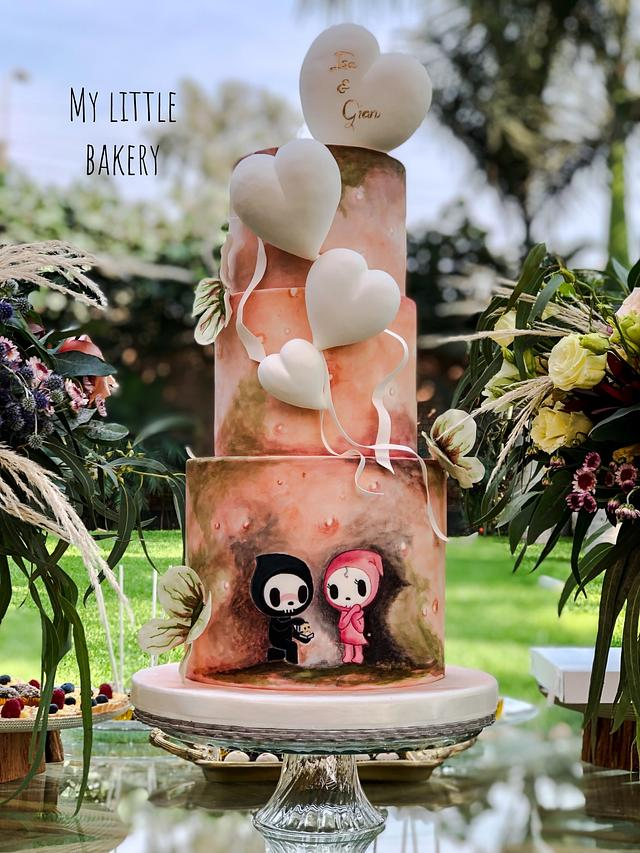 Tokidoki wedding cake