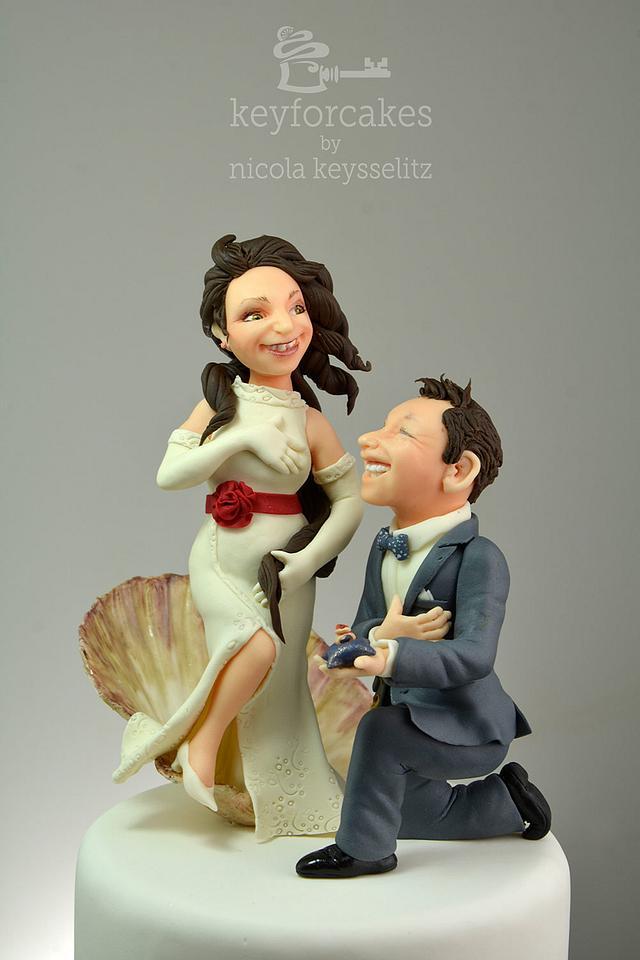 The birth of Venus - Wedding cake topper
