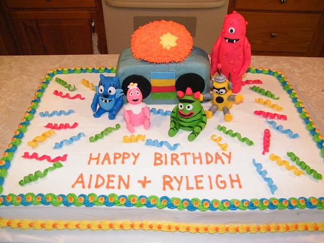 Cool Yo Gabba Gabba Birthday Cake Cake By Judy Remaly Cakesdecor Funny Birthday Cards Online Elaedamsfinfo