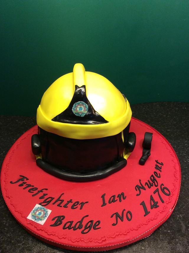 Firebrigade Helmet cake