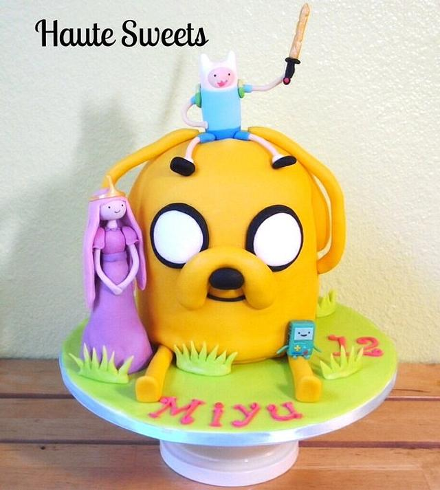Pleasant Adventure Time Birthday Cake Cake By Hiromi Greer Cakesdecor Funny Birthday Cards Online Alyptdamsfinfo