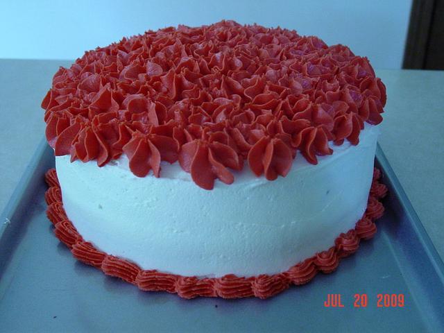 Red & White Cake
